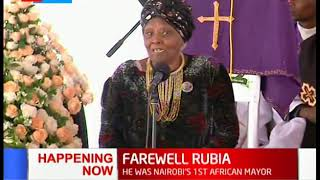 Family members and friends pay their tributes to Charles Rubia in Murang'a
