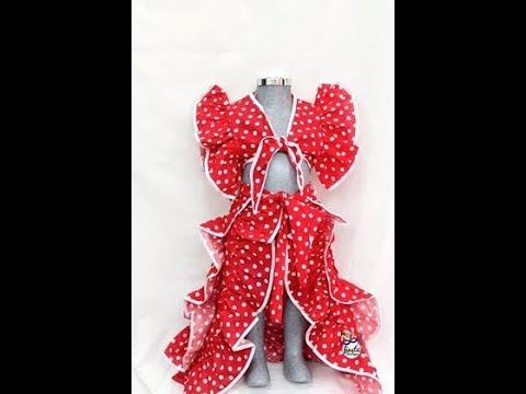 Como hace  Vestido de Rumbera  Alta Costura para niños Clase #112