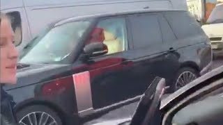 video: Ellie Goulding comes to rescue of driver in car pushed sideways by Royal Mail lorry