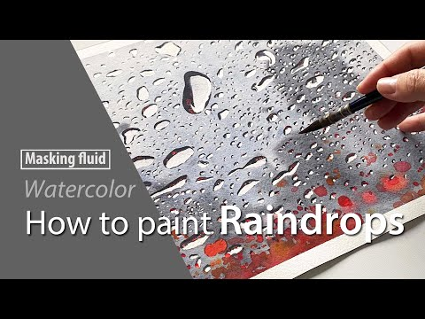 """Thumbnail of HOW TO PAINT A  """"Raindrops"""" with Watercolor"""