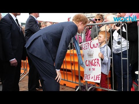 Charming Prince Harry Helps Adorable Little Girl With Errant Shoe