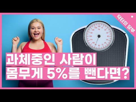 과체중인 사람이 몸무게 5%를 뺀다면?