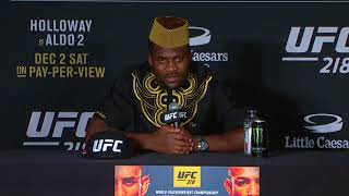 UFC 218: Francis Ngannou - I Plan on Knocking Out Stipe Miocic for Heavyweight Title