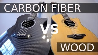 CARBON FIBER vs WOOD - Guitar Tone Comparison!