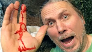 HUGE SNAKE MISTAKES HAND AS FOOD!! OUCH!!   BRIAN BARCZYK
