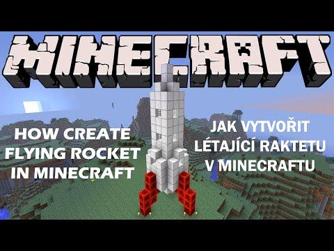 How create flying rocket in Minecraft | Jak vytvořit létající raketu v Minecraftu v. 1.8+
