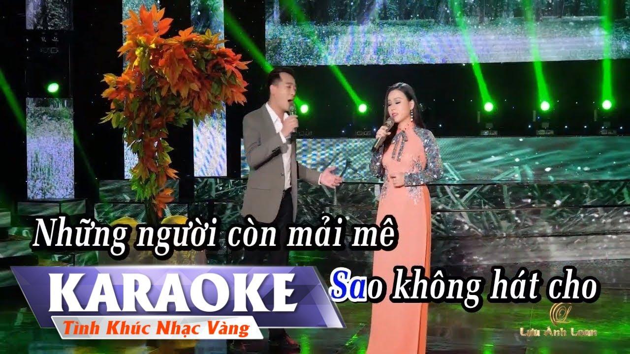 KARAOKE – LK Rừng Lá Thấp – Biển Mặn | Song Ca | Lưu Ánh Loan & Đoàn Minh