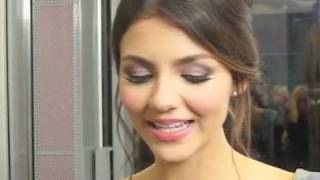 Виктория Джастис, EXCLUSIVE! Victoria Justice & Cory Monteith Talk To BOP & Tiger Beat at the Hollywood Style