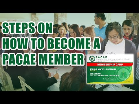 PACAE MEMBERSHIP AND WEBSITE