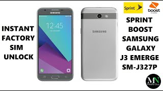 SIM Unlock Sprint / Boost / Virgin Samsung Galaxy J3 Emerge For Use On GSM Carriers!