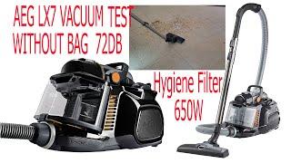 AEG LX7-2-EB-P VACUUM CLEANER 650W 72DB TESTING