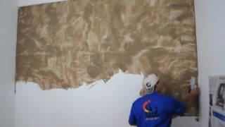 Como aplicar gel envelhecedor com glitter 123vid for Pintura decorativa efeito marmore
