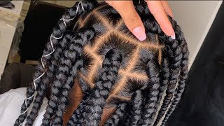HOW TO DO BOXBRAIDS (RUBBERBAND METHOD) Beginner Friendly !