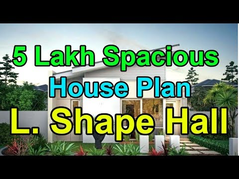 Modern 5 Lakh budget House | L Shape Hall | Low Budget House plan by OJO HOMES