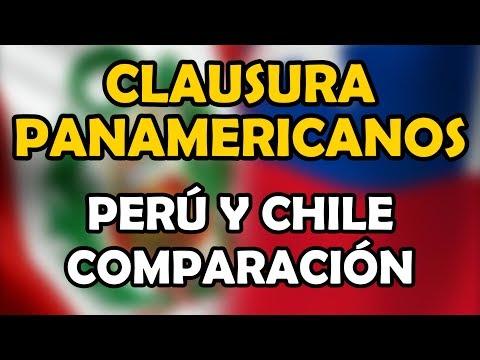 Clausura Panamericanos posta Perú 2015 y Chile 2019 comparación