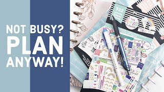 10 Ways to Fill Up Your Weekly Planner Even if You Are NOT BUSY! // The Happy Planner