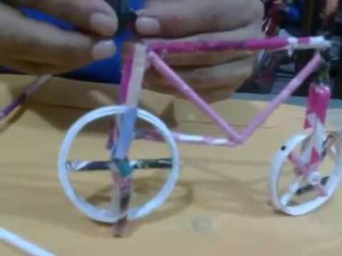 Bicicleta de papel