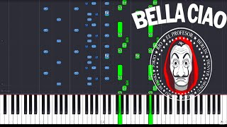 "Video thumbnail of ""Bella  Ciao - La Casa de Papel / CRAZY PIANO COVER (SYNTHESIA)"""