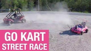 Barbie Car vs. Honda Odyssey  Street Race