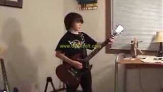 12 year old kid plays Stevie Ray Pride and Joy on guitar