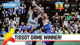 TISSOT Buzzer Beater! Canada hits a clutch shot vs. the Philippines | FIBA 3x3 World Cup 2018
