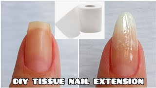 How To Make Nail Extension Out Of Tissue | Diy Cornstarch Fake Nail Extension