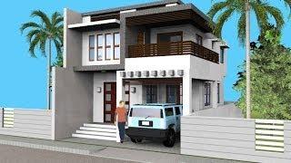 Small Modern 2 Level House with Interior Walkthrough