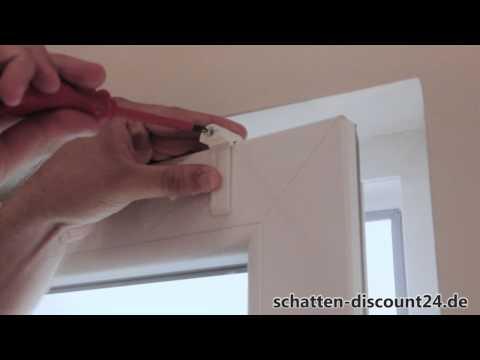 Plissee VS2 Aufmaß und Montage im Fensterfalz mit Klemmträgern