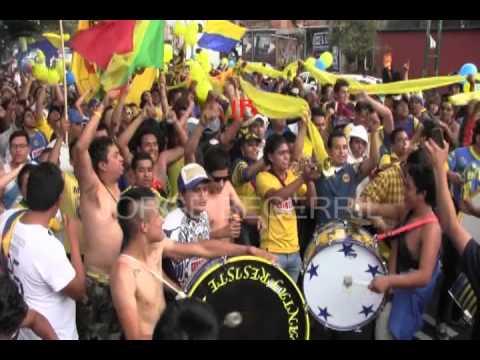 """LA MONU ASI CAMINA AL ESTADIO AZUL. CA . JORGE BECERRIL"" Barra: La Monumental • Club: América • País: México"