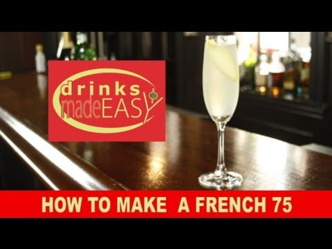 Video How To Make A Gin French 75 Champagne Cocktail-Drinks Made Easy