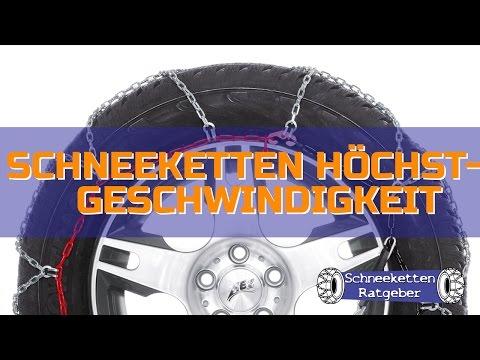 Schneeketten Höchstgeschwindigkeit? | Schneeketten-Ratgeber.de