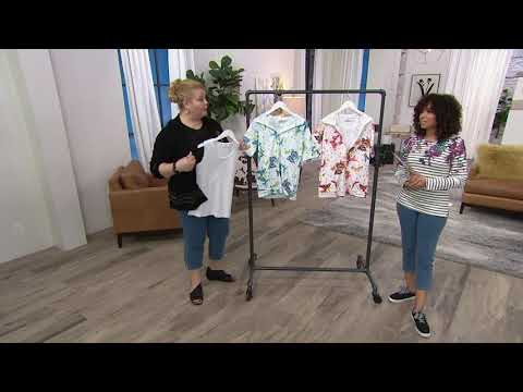 Quacker Factory Butterfly Printed Knit Hoodie and Tank Set on QVC