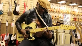The Funkiest Guitarist Tony Maiden (Rufus) Playing Our Nash T-52 Here At Normans Rare Guitars