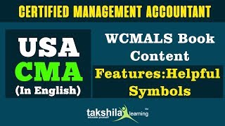 CMA Content and Syllabus detail in English | WCMALS Book Content features : helpful symbols