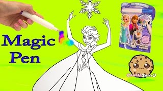 Disney Frozen Imagine Ink  Rainbow Color Pen Art Book with Surprise Pictures Cookieswirlc Video