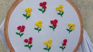 How To Make Easy French Knot Hand Embroidery All Dobatta And Dresses
