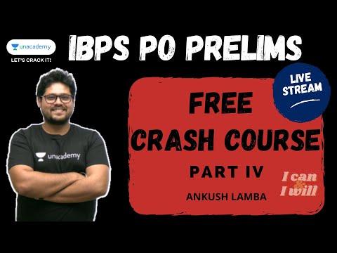 Free Crash Course for IBPS PO Prelims 2020 | Part IV | Ankush Lamba