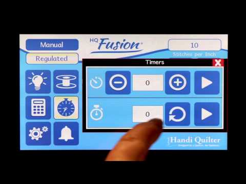 Quilting Timers: Getting Started with HQ Fusion