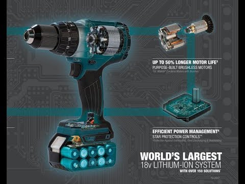 Makita 18v Sub-Compact Cordless Drill Driver Tool Review and Demo