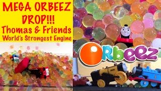 Thomas And Friends Mega Orbeez Drop!!! - World's Strongest Engine