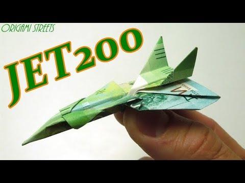Самолёт из денег. Оригами из денег - самолёт истребитель