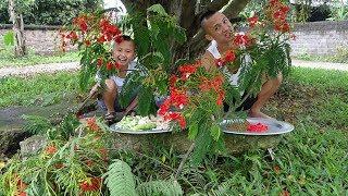 Nộm Gà Hoa Phượng Siêu To Khổng Lồ - Tuổi Thơ Của Anh Em Mình Là Như Thế Đó !!