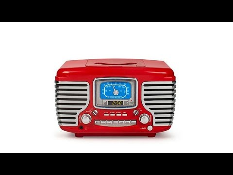 Crosley Corsair Bluetooth Alarm Clock Radio and CD Player
