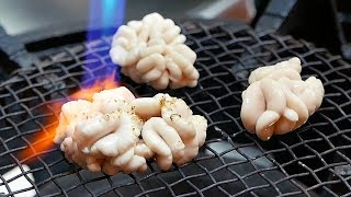 Japanese Street Food - FISH SEMEN Sashimi Okinawa Seafood Japan