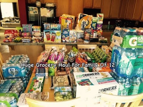 February Grocery Haul for Family of 12