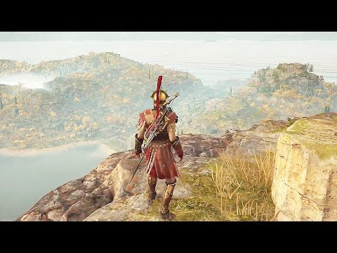 Assassin's Creed Odyssey High Level Combat, Finishing Moves, & Forest Exploration Gameplay