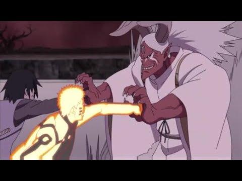 Naruto, Sasuke, Boruto, and 5 Kages vs  Momoshiki Ōtsutsuki  - English Sub