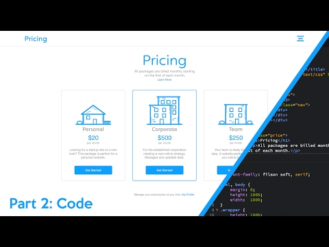 Web Design Speed Art + Speed Code - Pricing Packages (Part 2 of 2)
