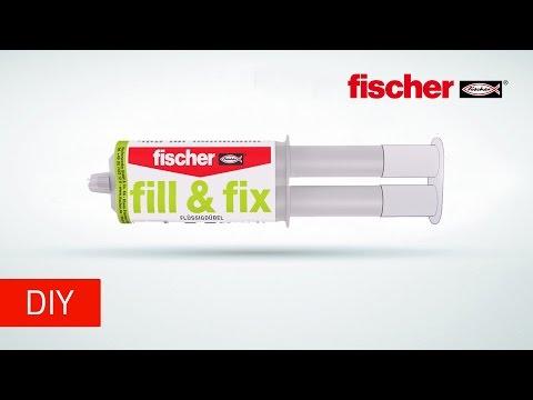 Flüssigdübel fischer fill & fix für ausgerissene Bohrlöcher