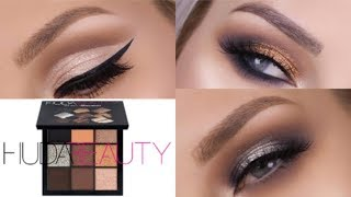 HUDA BEAUTY SMOKEY OBSESSIONS - 3 LOOKS 1 PALETTE  |  LASHES LOVE & LEATHER